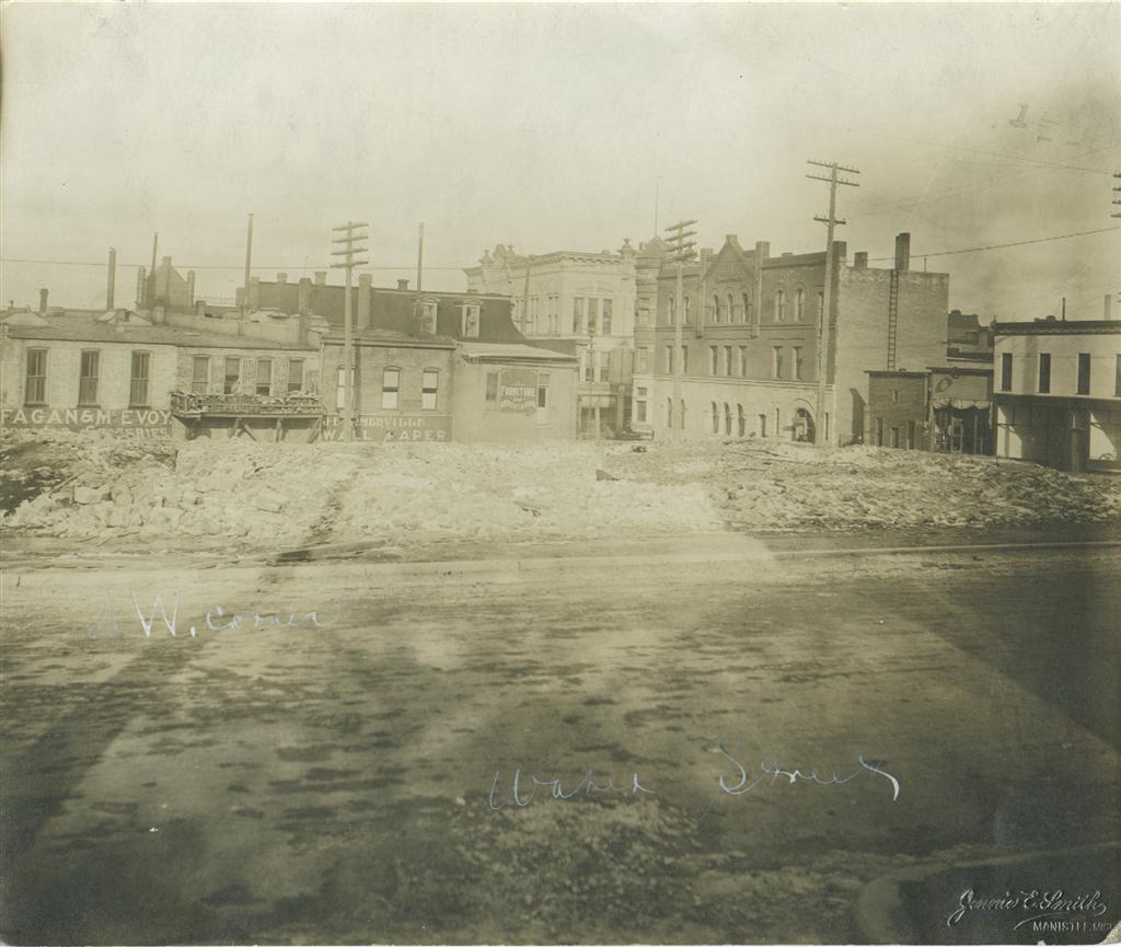 Looking over the vacant site that will become the Southwest corner of the Post Office